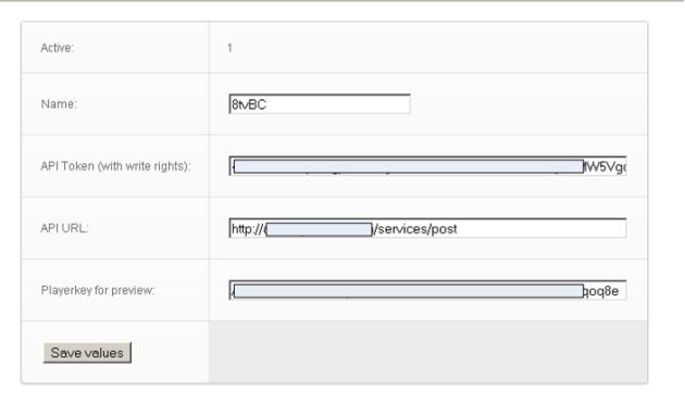 Brightcove publish settings