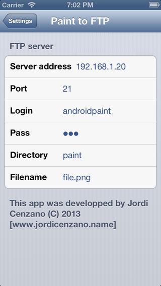 Iphone settings screen