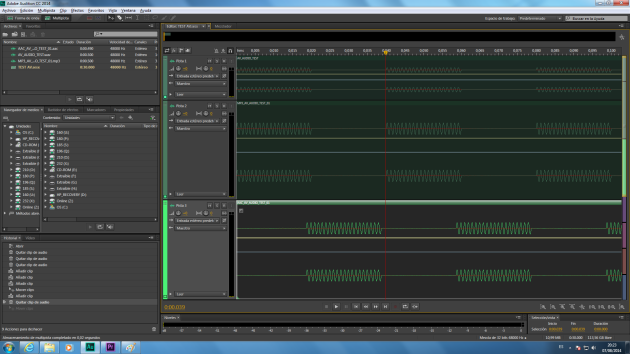 Zoom of original and exported->imported tracks in Audition