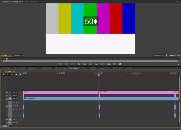 Audio-Video alignment test timeline